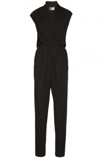 Lanvin Wrap Effect Stretch-Jersey Jumpsuit