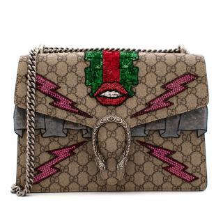 Gucci GG Supreme Canvas Medium Sequin Dionysus Bag
