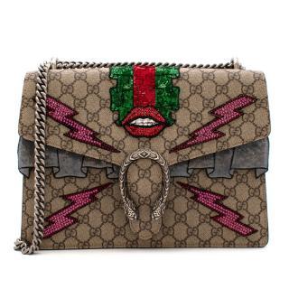 Gucci GG Supreme Canvas Medium Sequin Dionysus Bag