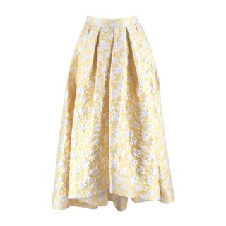 Alena Akhmadullina Yellow and White Floral Jacquard Skirt