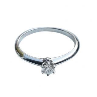 Tiffany & Co. Brilliant Diamond Solitaire Rimg