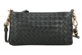 Bottega Veneta Intrecciato Leather Double Pouch Crossbody Bag