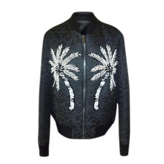 Dolce & Gabbana Palm Tree Embellished Jacquard Bomber