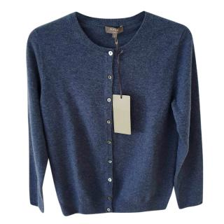 N Peal Blue Cashmere Knit Cardigan