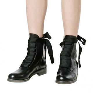 Chloe Black Patent Leather Harper Ankle Boots
