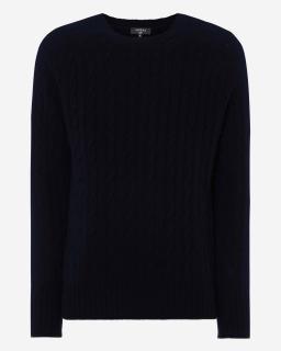 N Peal Cashmere Knit Malbec Jumper