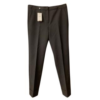 Armani Collezioni Black Tailored Stretch Pants
