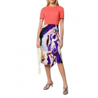 Emilio Pucci Vallauris Print Contrast Dress