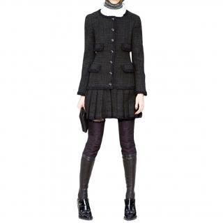 Chanel Black Metallic Tweed Runway Coa