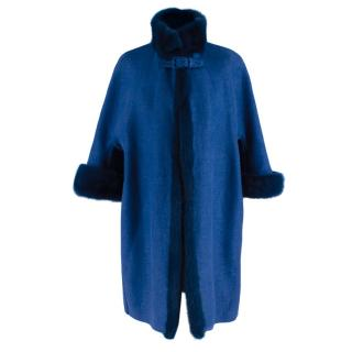 Pastel Mink and Marten Fur Coat by Casiani