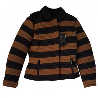 Burberry Prorsum Two-Tone Striped Jacket