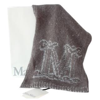 Max Mara Lurex Mohair & Wool Blend Shawl