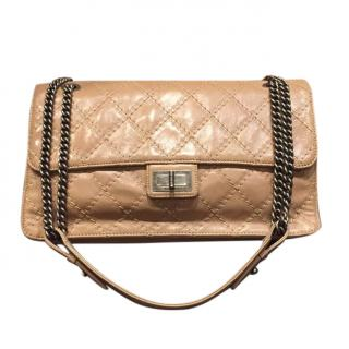 Chanel Beige Stitch Quilt Reissue Flap Bag