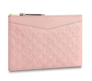 Louis Vuitton Daily Pouch Monogram Empreinte Leather in Rose Ballerine