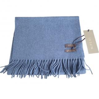 N Peal Blue Cashmere Shawl