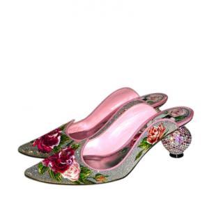 Dolce & Gabbana Aladino embroidered embellished mules