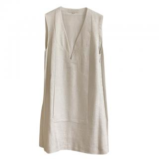 Vanessa Bruno silver thread white dress