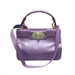 Bvlgari purple leather shoulder/top handle  bag