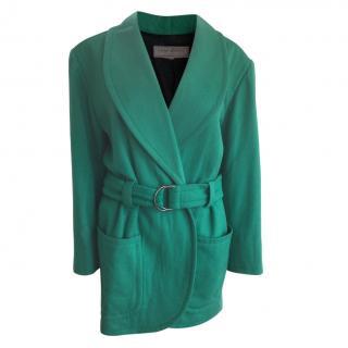 Yves Saint Laurent jade green wool jacket/coat