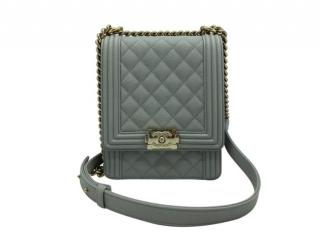 Chanel North-South Caviar Leather Boy Bag