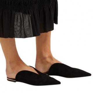 Jimmy Choo Tahia Flat Suede Slippers