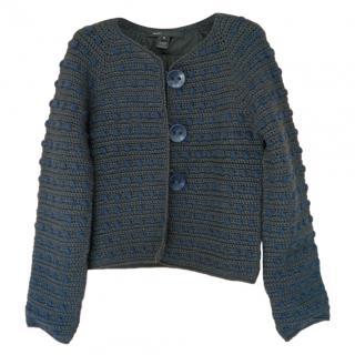 Marc Jacobs Black Chunky Knit Cardigan