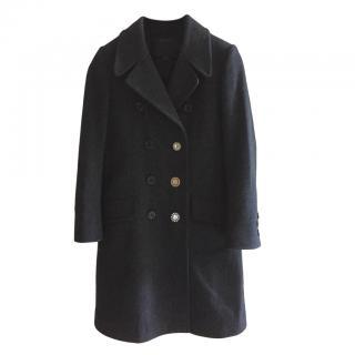 Marc Jacobs Charcoal Wool Coat