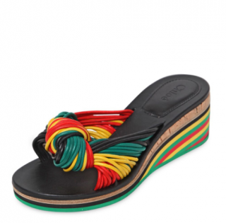 Chloe 60mm Jamaica Knot Leather Wedge Sandals