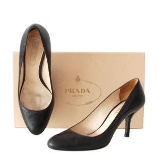 Prada Black Leather Classic Pumps