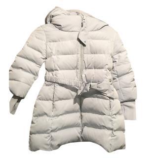 Monnalisa Baby Blue Hooded Puffer Coat
