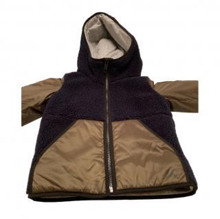Burberry Khaki/Navy Hooded Coat