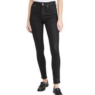 Rag & Bone Nina High Waist Coated Skinny Jeans