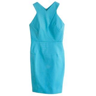 Roland Mouret Turquoise Halterneck Dress