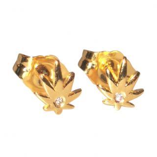 Sydney Evan Diamond Set Maple Leaf Earrings