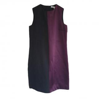 Victoria Victoria Beckham Two-Tone Sleeveless Dress