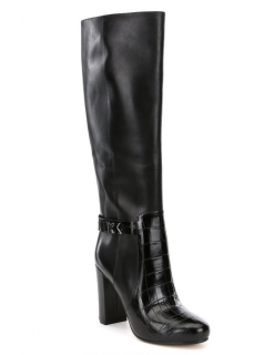 Michael Kors Julianna Black Leather Knee Boots