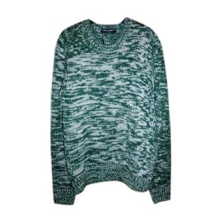Dolce & Gabbana Green Wool Knit Chunky Knit