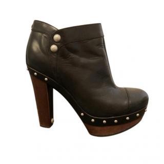 Ugg Australia black studded platform ankle boots - sheepskin innners