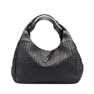 Bottega Veneta Black Intrecciato Leather Campana Tote Bag