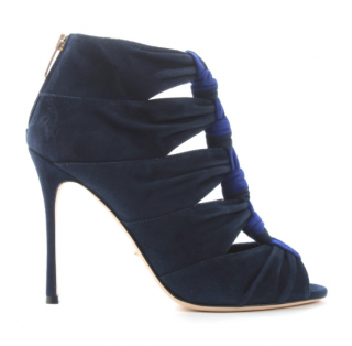 Sergio Rossi Bi-Colour Knotted Suede Booties