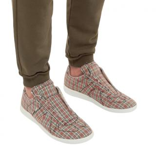 Maison Margiela Low-Top Checked Sneakers