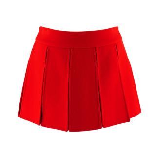 Louis Vuitton Red Paneled Cashmere Mini Skirt