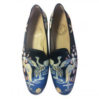 Penelope Chilvers oriental design flat loafers