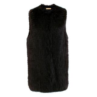 The Row Dark Brown Beaver Fur Gilet
