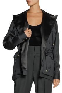 Balmain Hooded Wool-Gabardine Jacket