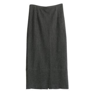 Tibi Grey Pinstripe Skirt