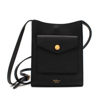 Mulberry Black Leather Medium Phone Pouch