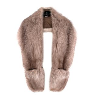 Elcom Beige Fox Fur Wrap Stole