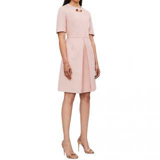 Stella McCartney Pastel Pink Albane Pleated Mini Cocktail Dress