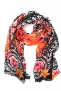 Givenchy Multi-Coloured Floral Chain Print Silk Scarf